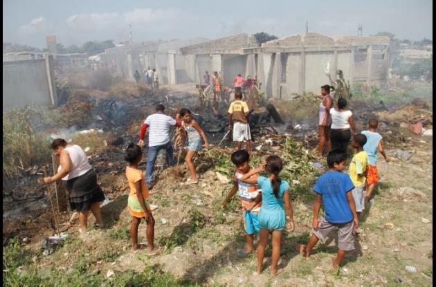 Invasión en el barrio El Silencio Cartagena
