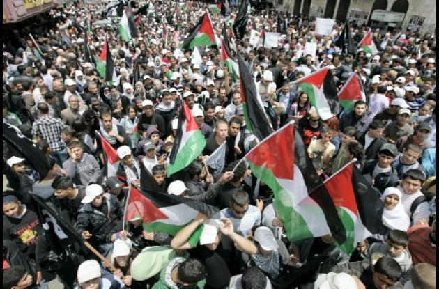 Choques violentos entre israelíes y palestinos.