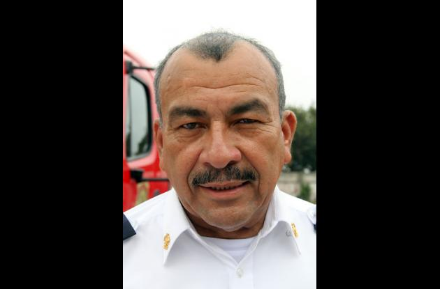 Jaime Pérez, Comandante del Cuerpo de Bomberos de Barranquilla.