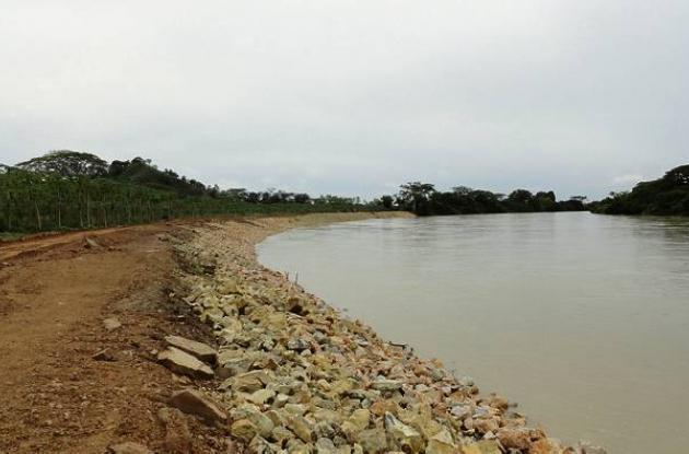 Obras de control de erosión en Jaranquiel.