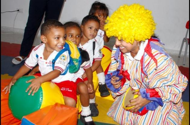 Jardín infantil de lujo para niños pobres