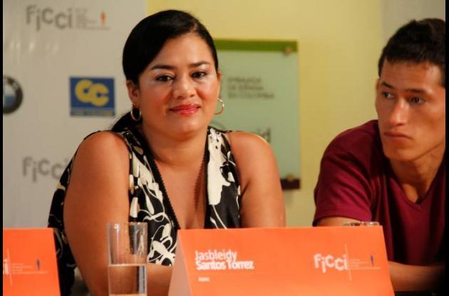 Jasbleidy Santos Torres, actriz de la película Porfirio