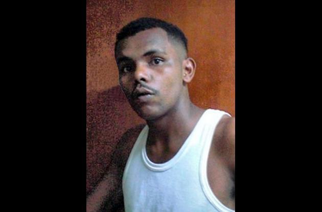 Jersiño Carlos Miranda Mejía, presunto fletero detenido por la Policía.