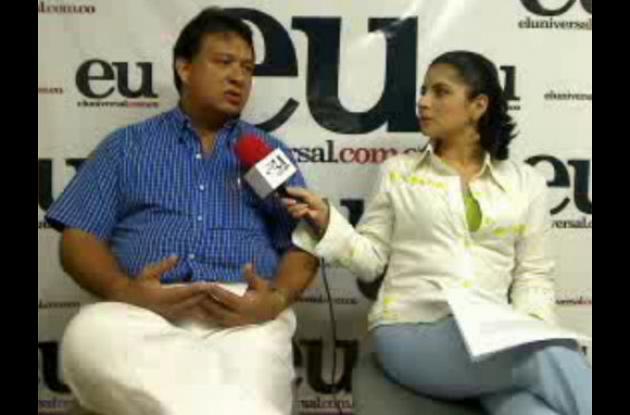 Jhony Romero Julio durante la entrevista a través de la webcam de El Universal.