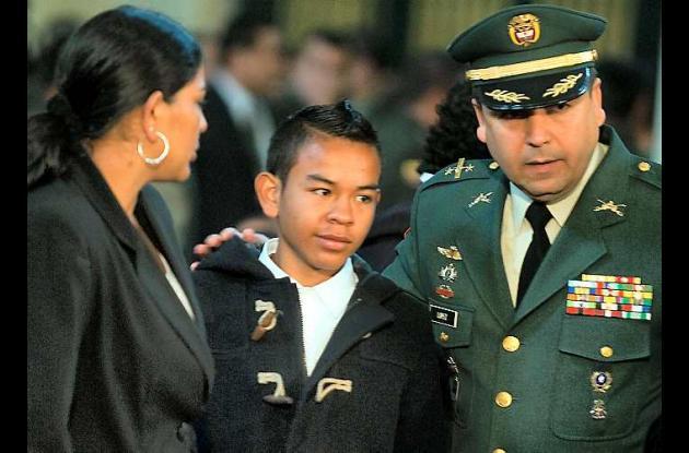 Johan Stiven Martínez, un niño que creció pidiendo la liberación de su papá.