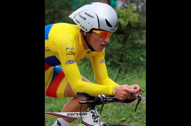 Sergio Luis Henao, actual campeón y favorito para ganar la Vuelta a Colombia