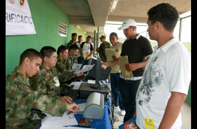 Jornada de reclutamiento militar.
