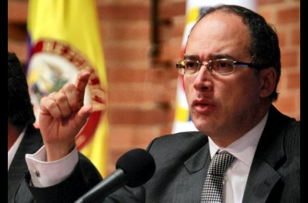Juan Carlos Echeverry, ministro de Hacienda de Colombia.
