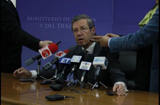 Juan Carlos Esguerra, ministro de Justicia.
