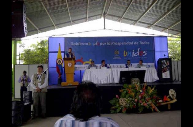 Juan Manuel Santos en Montería