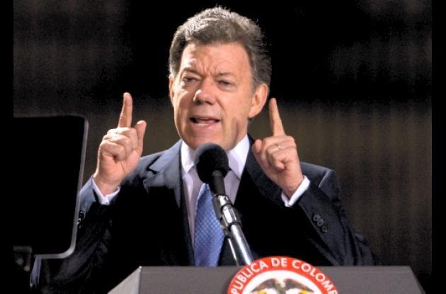 El presidente Santos pone punto final a polémica por indultos.