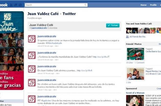 Facebook de Juan Valdez.