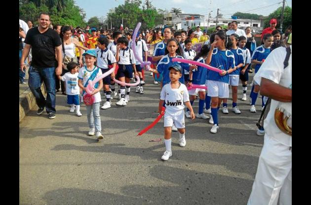 juegos intercursos del colegio La Salle de Montería