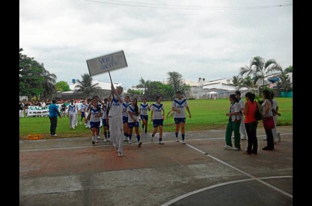 Juegos Intercursos del Colegio Vallegrande de Montería.
