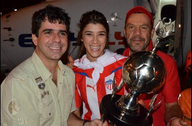 Alcalde Char, Andrea Jaramillo y el técnico José Eugenio hernández