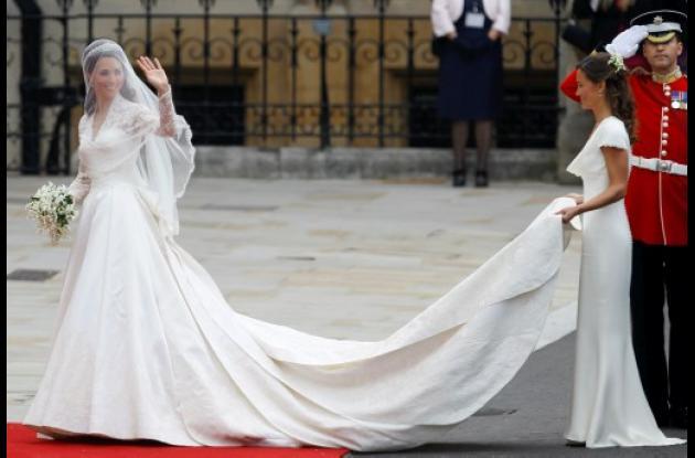 Exhibirán el vestido de novia de Kate Middleton, hoy princesa Catalina.