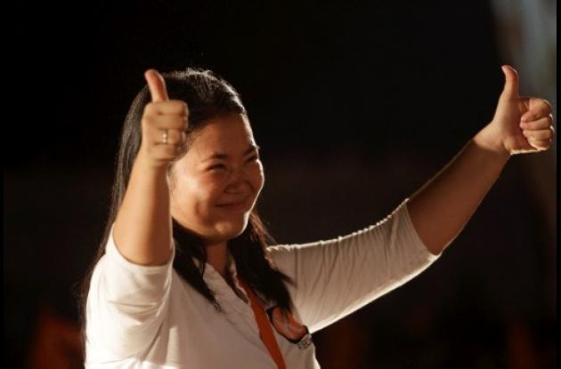 Keiko Fujimori, candidata a la presidencia de Perú.