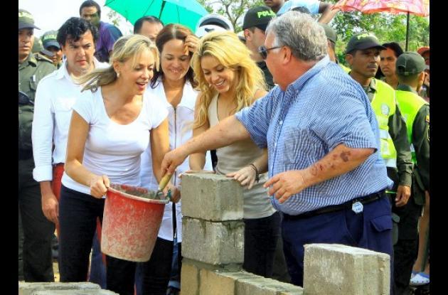 Shakira y Howard Buffet