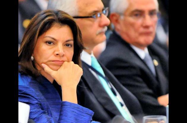 Laura Chinchilla, presidenta de Nicaragua.