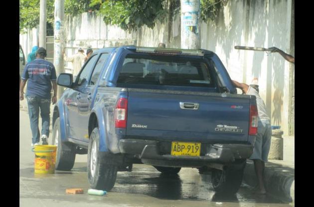 Lavadores de carros en Cartagena