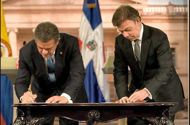 Leonel Fernández y Juan Manuel Santos