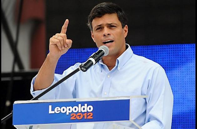 Leopoldo López, líder de la oposición en Venezuela.