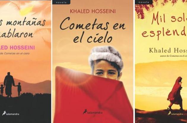 Y las montañas hablaron, Comentas en el cielo y Mil soles espléndidos, novelas del escritor Khaled Hosseini.