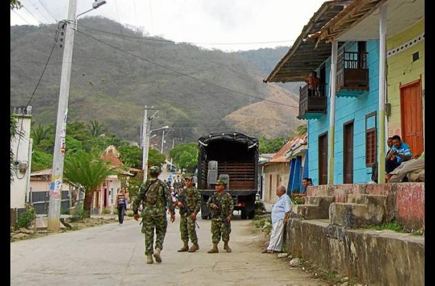Los Montes de María tienen presencia permanente de tropas