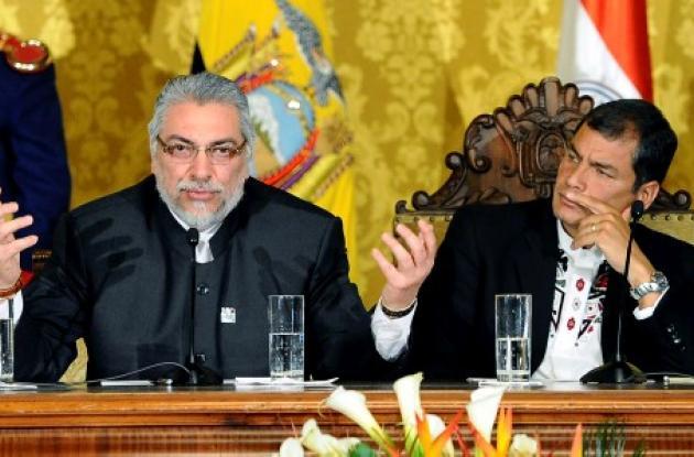 Rafael Correa y Fernando Lugo