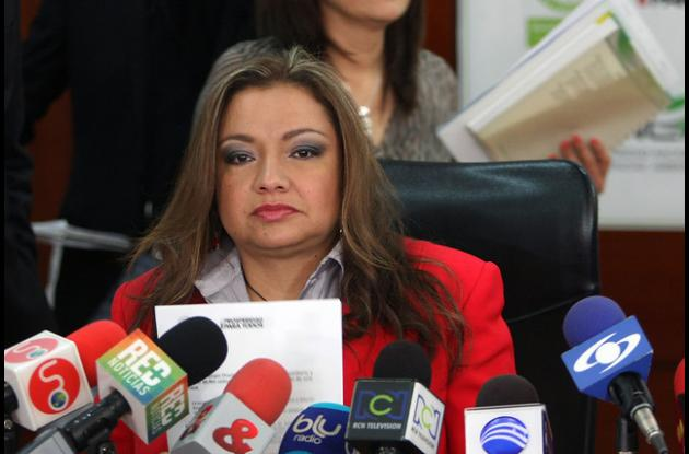 Luz Helena Sarmiento, ministra de Ambiente.