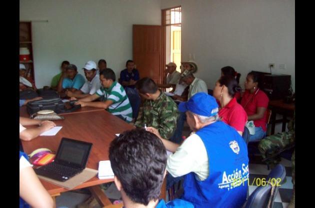 Sesión del El Comité Municipal de Atención a Población Desplazada (CMAIPD) de El