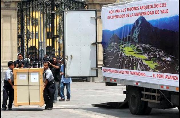 La Universidad de Yale devuelve un primer lote de piezas a Machu Pichu.
