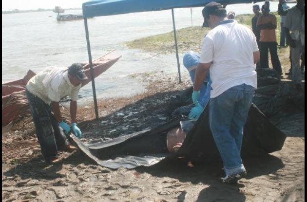 cuerpos rescatados del río Magadalena