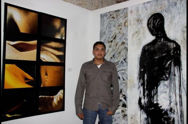 "Walter Buelvas ""Cronotopias"" (2010) 210x150. Técnica Mixta sobre tela."