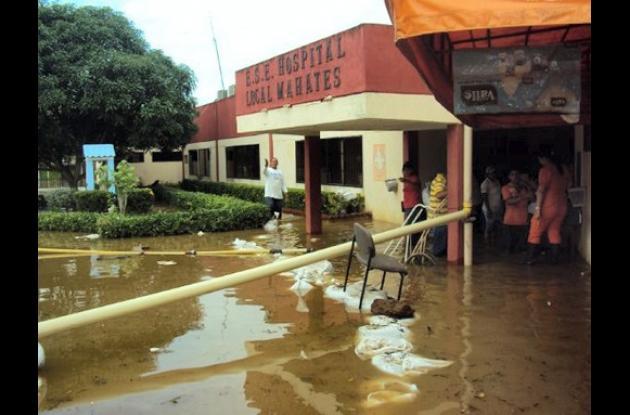 El Hospital Municipal de Mahates fue uno de los más afectados durante la emergen