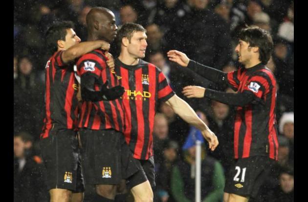 Jugadores del Manchester City.