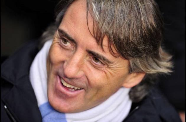 Roberto Mancini, técnico del Manchester City.