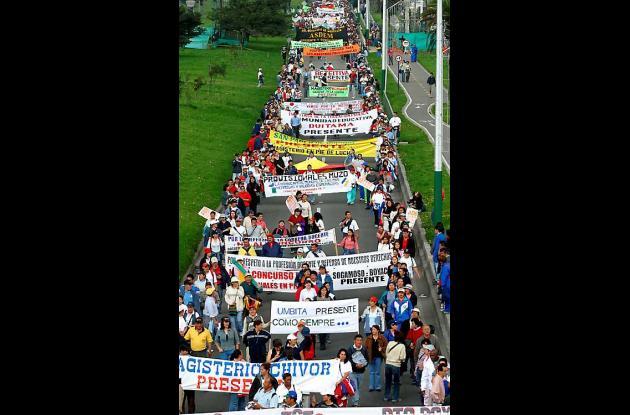 En Bogotá las manifestaciones más grandes se registran en la Calle 72 con Carrer