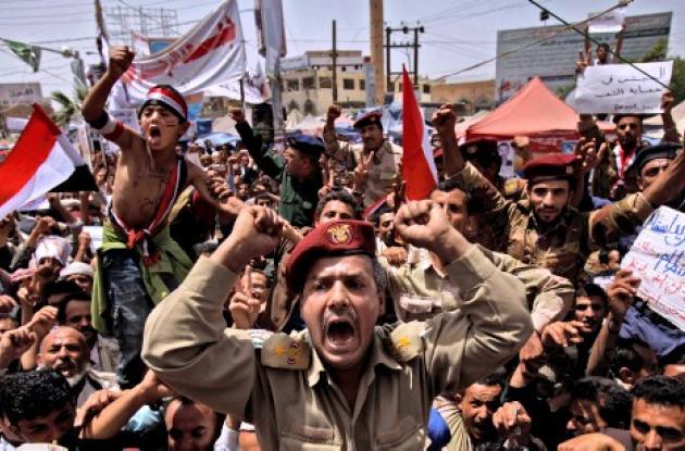 Manifestaciones en Yemen.