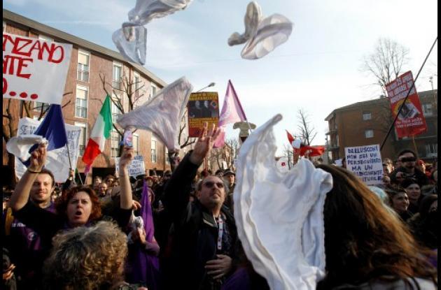 manifestaciones contra berlusconi