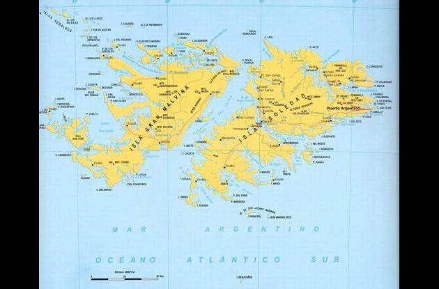 Las Malvinas son un archipiélago del Océano Atlántico.