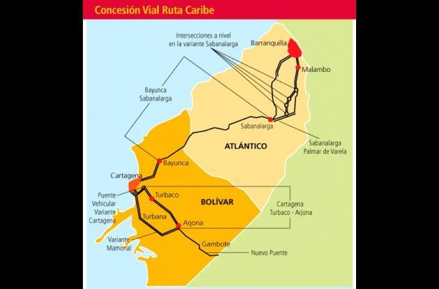 Mapa Ruta Caribe.
