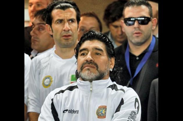Maradona, lanza en ristre como Batista y Grondona