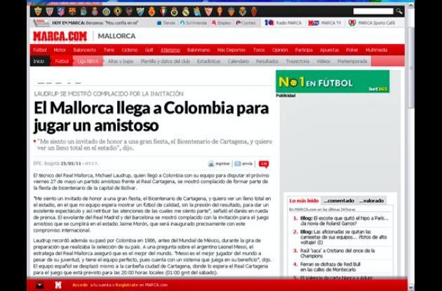 Real Cartagena vs. Mallorca, reseñado por prensa española