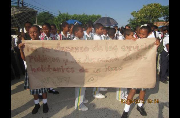 Los estudiantes de la Institución Educativa Moisés Cabeza, de Villanueva, real