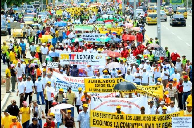 Marchas en Cartagena