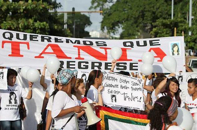 Marcha para pedir regreso a casa de la estudiante desaparecida Tania Rodríguez