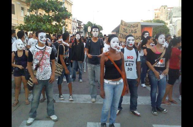 Marcha del silencio de Unicartagena
