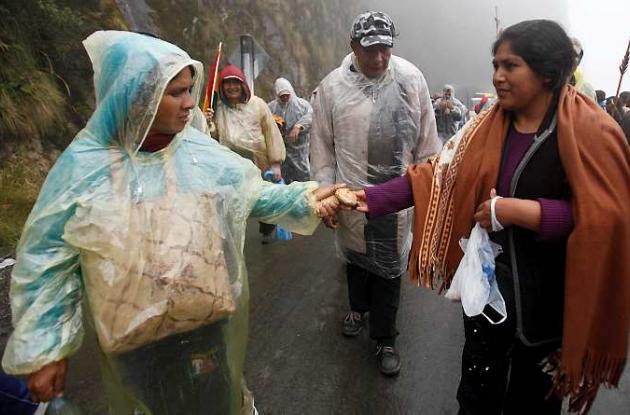 Los indígenas aspiran a llegar el miércoles a La Paz.