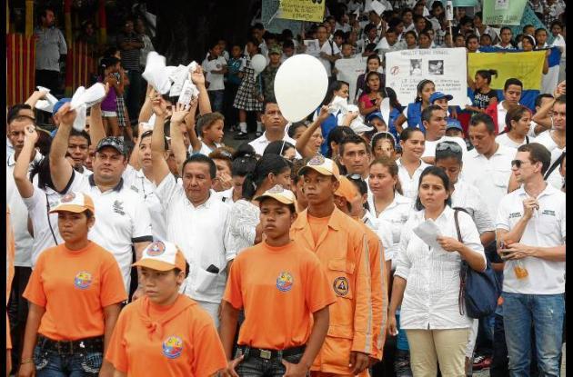 Marcha por la niña Mayerlis María Blanco, desaparecida en Ovejas, Sucre.